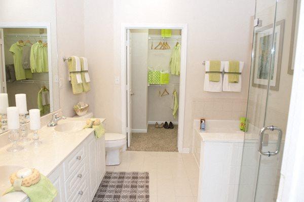 Dual bathroom vanities at Sterling Magnolia, North Carolina, 28211