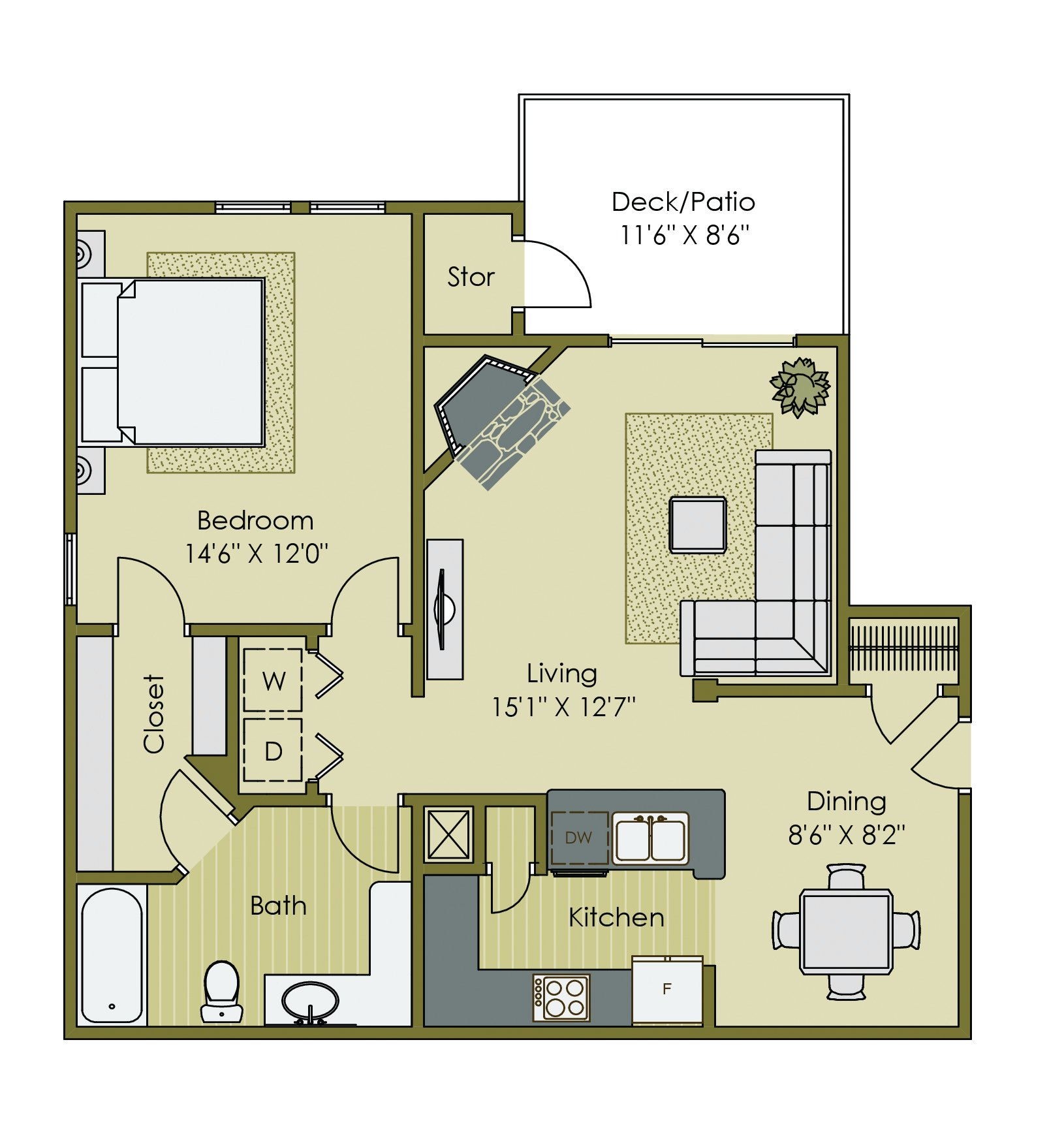 1 Bedroom Apartments Greenville Sc 1 19 Updated Today