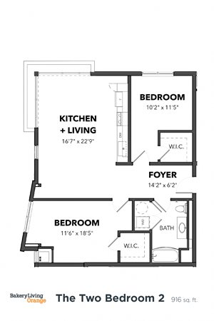 The 2 Bedroom 2