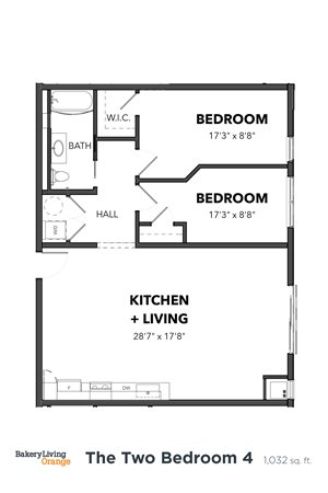 The 2 Bedroom 4