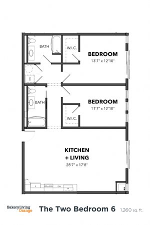 The 2 Bedroom 6