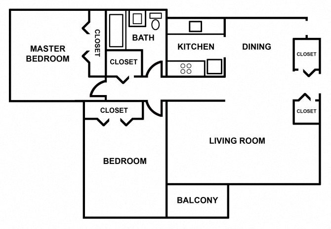 2 Bedroom apartment Floor Plan 2