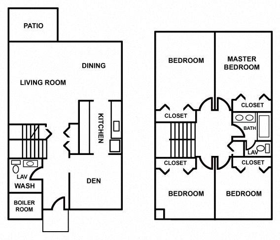4 Bedroom Townhouse Floor Plan 4