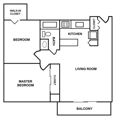 2 Bedroom Apartment Floor Plan 3