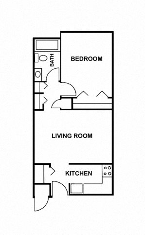 1 Bedroom Apartment Floor Plan 1