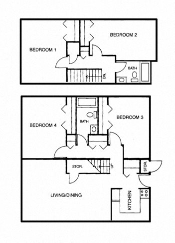 4 Bedroom Apartment Floor Plan 4