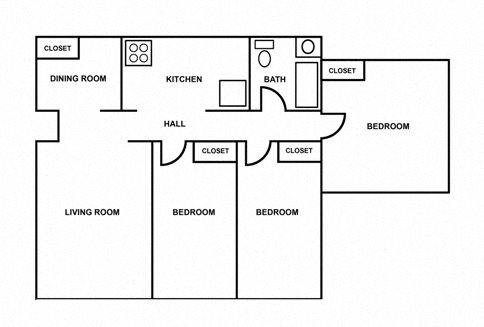 3 Bedroom Apartment Floor Plan 1