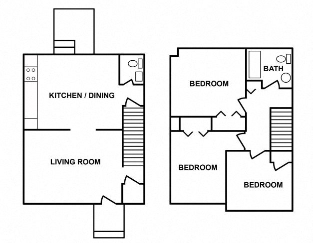 3 Bedroom Town Home Floor Plan 4
