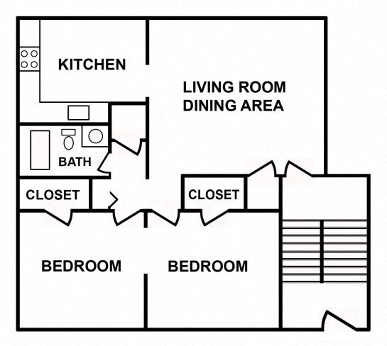 2 Bedroom Apartment Floor Plan 2