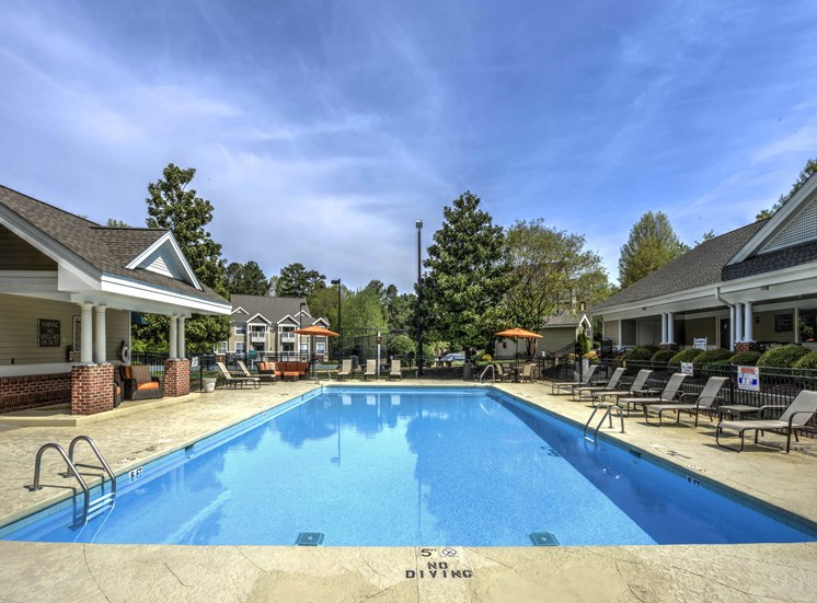 Refreshing Pool with Cabanas at Cambridge Apartments, Raleigh