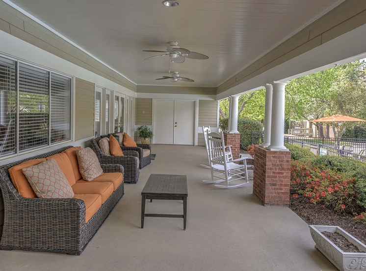 Covered Relaxing Area at Cambridge Apartments, Raleigh