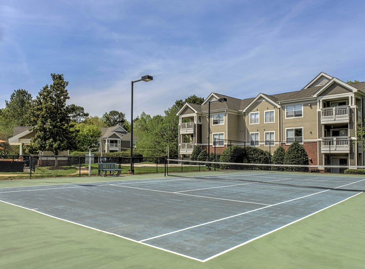 Lighted Tennis Court at Cambridge Apartments, Raleigh, 27615