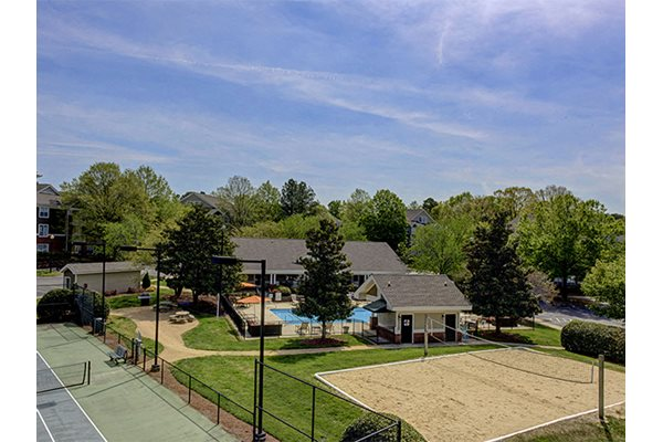 Volleyball court at Cambridge Apartments, Raleigh, NC