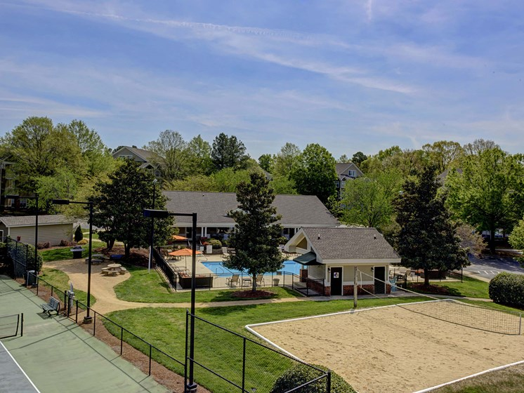 View of Sand Volleyball Court at Cambridge Apartments, North Carolina