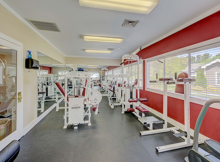 Dual Level Fitness Center with Cardio Mezzanine and Flex Space at Cambridge Apartments, Raleigh, 27615