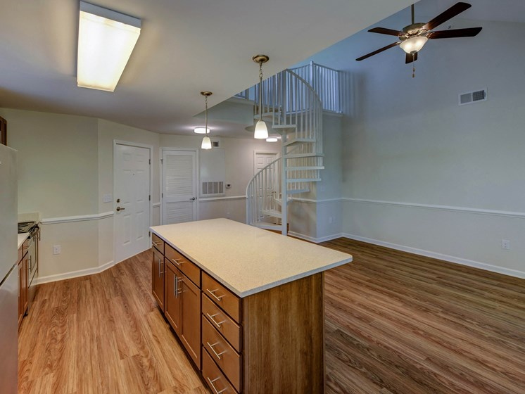 Cherry Cabinets at Cambridge Apartments, Raleigh,North Carolina