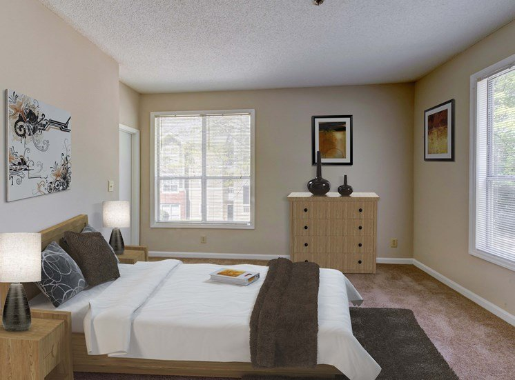 Private Master Bedroom at Cambridge Apartments, Raleigh,North Carolina