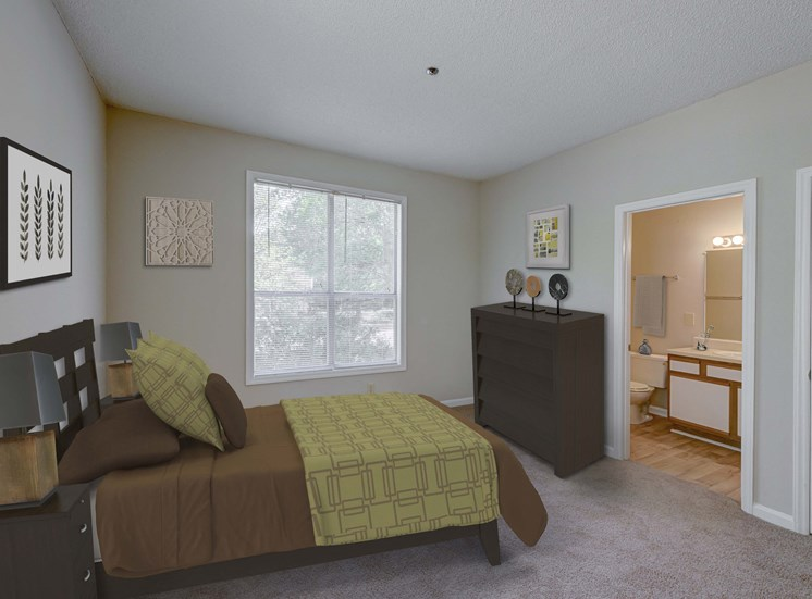 Ample Bedrooms that Accommodate King-Size Beds at Cambridge Apartments, Raleigh