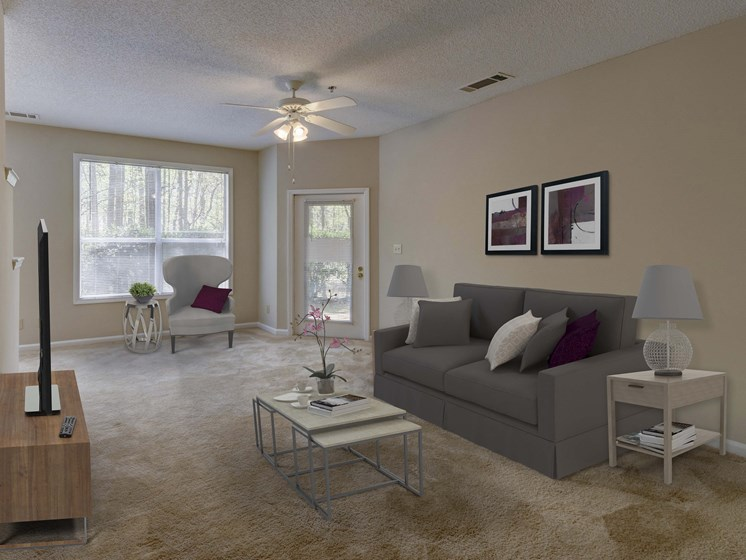 Lively Living Rooms at Cambridge Apartments, Raleigh, NC 27615