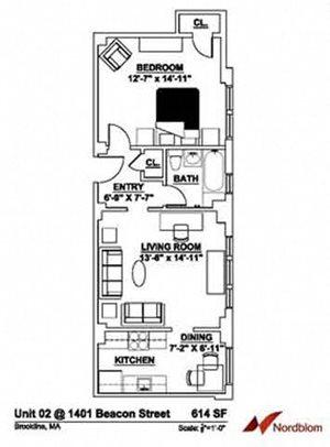 Floor plan at The Regent, Massachusetts, 02446