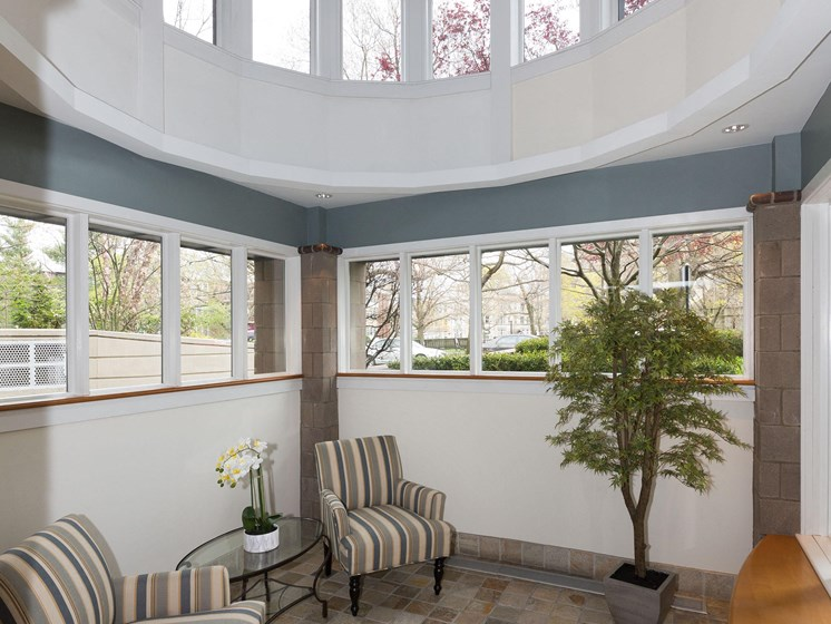 Relaxing Area with Vaulted Ceiling at Marion Square, Brookline,Massachusetts