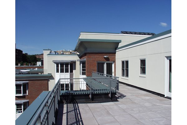 Private Roof Decks with Patio Doors at Marion Square, Brookline, 02446