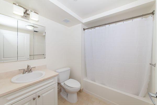 Elegant Marble Flooring in Bathroom at Marion Square, Massachusetts