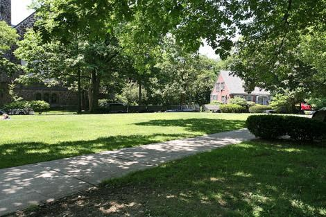 Landscaped Walkways at Marion Square, Massachusetts, 02446
