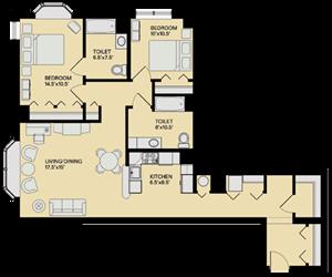 Floor plan at Marion Square, Brookline