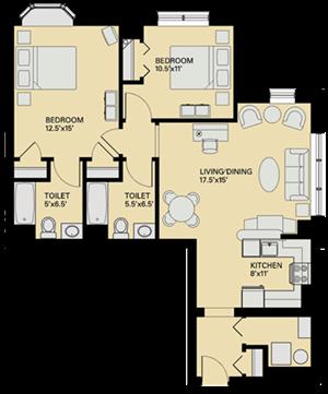 Floor plan at Marion Square, Brookline, 02446