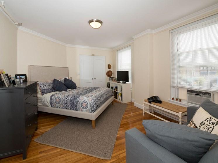 Private Master Bedroom Balcony, at Pelham Hall MA