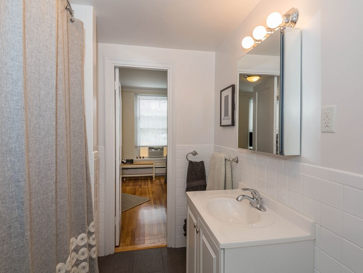 Spacious Bathrooms, at Pelham Hall Brookline 02446