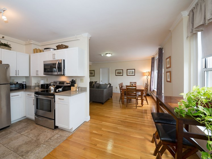 Gourmet Kitchens with Dishwasher and Disposal, at Pelham Hall Brookline