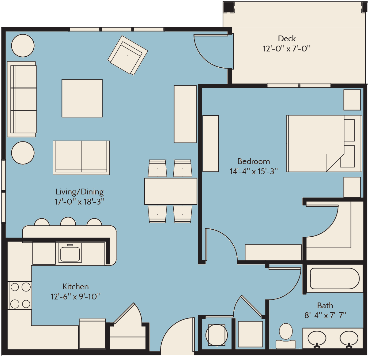 The Cottonwood Floor Plan 3