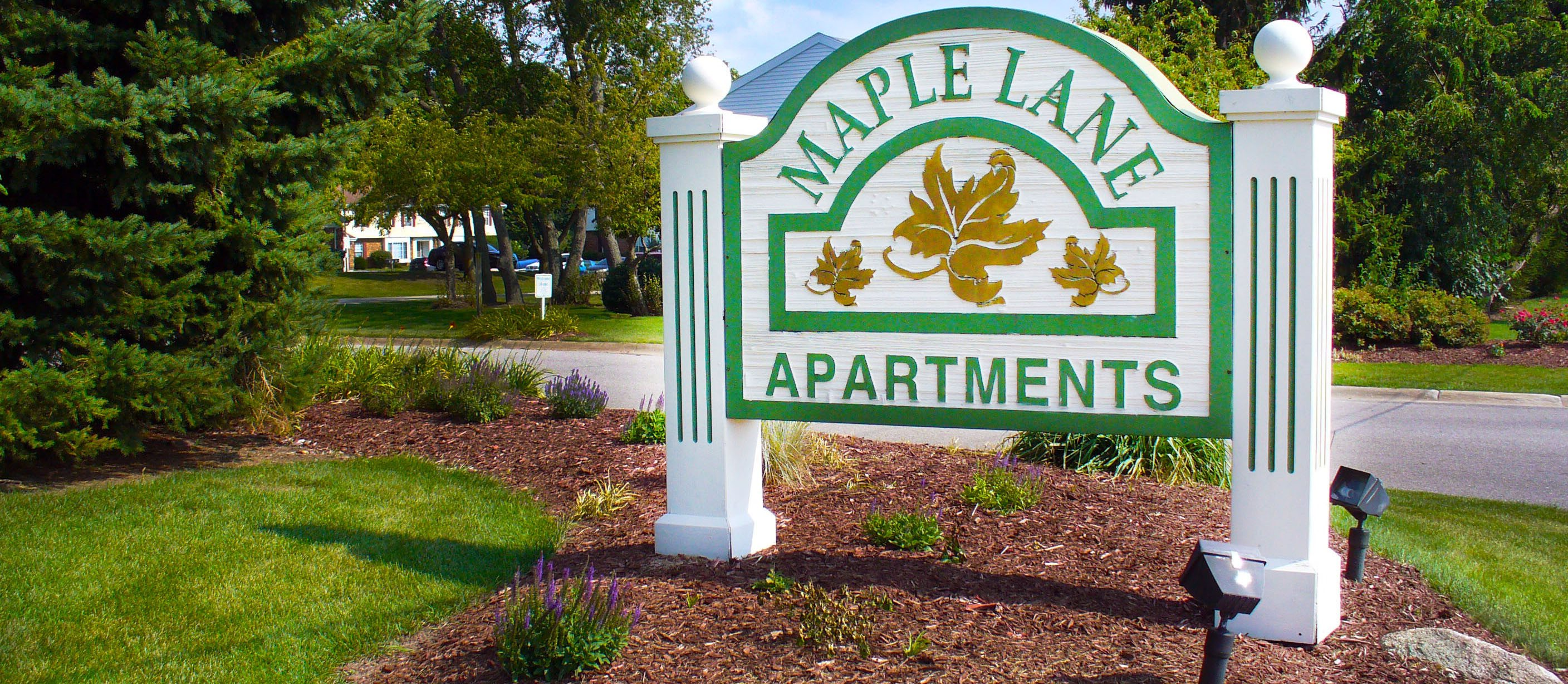Maple Lane Apartments Sign