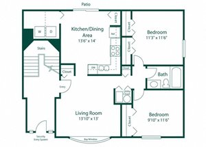 Maple Lane Apartment Unit Floor Plan