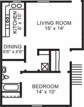 1 BR Garden Apartment