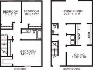3 BR Townhome