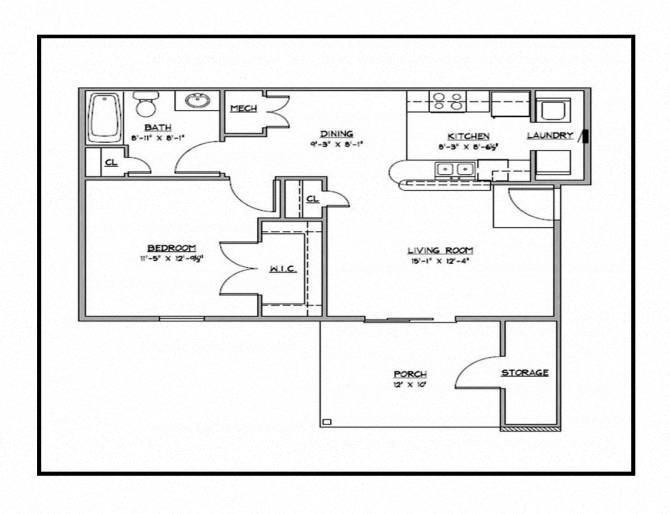 Cedar-Down Floor Plan 1