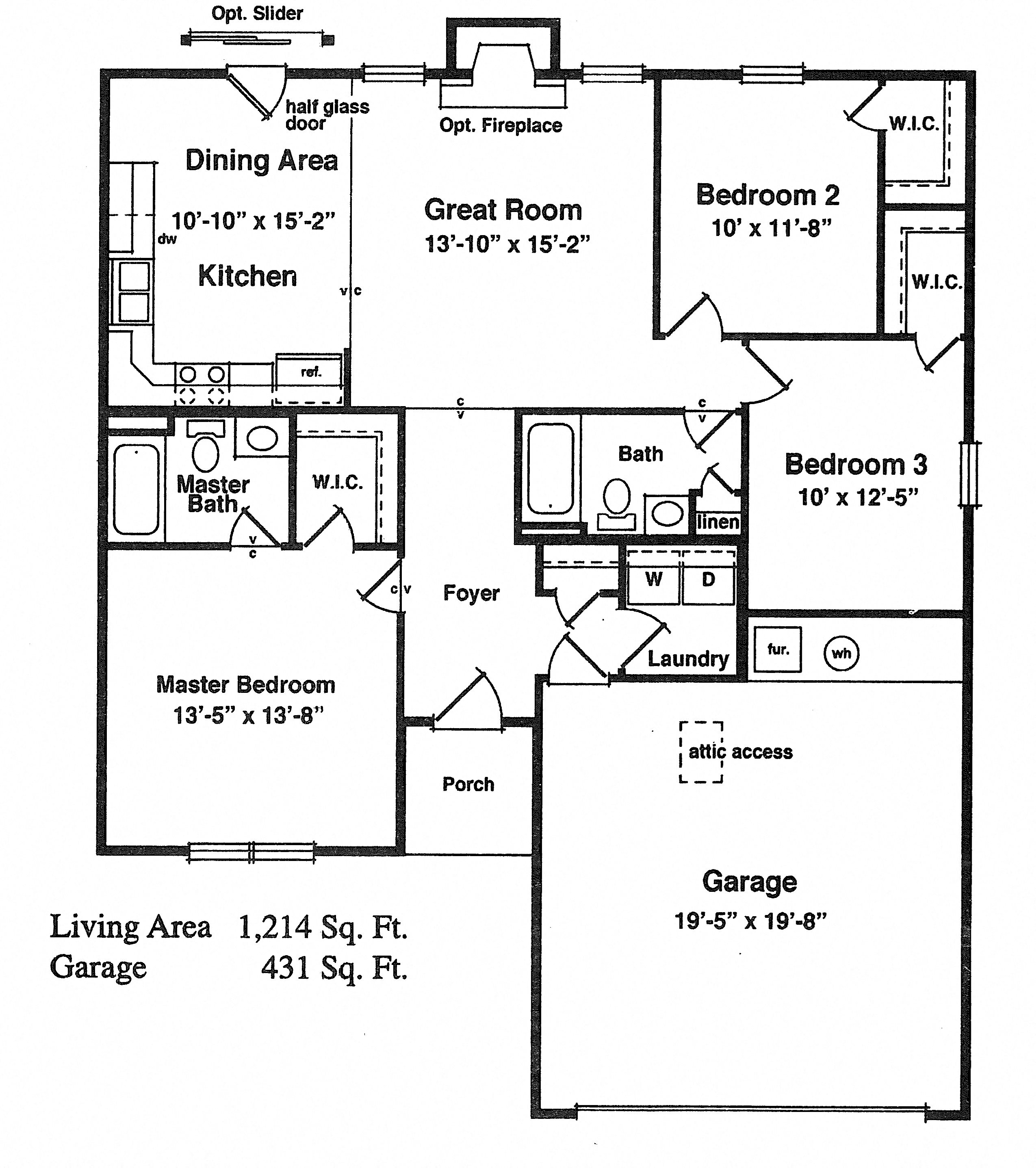 Stone Canyon:  Fort Wayne, IN 46808 Floor Plan 6