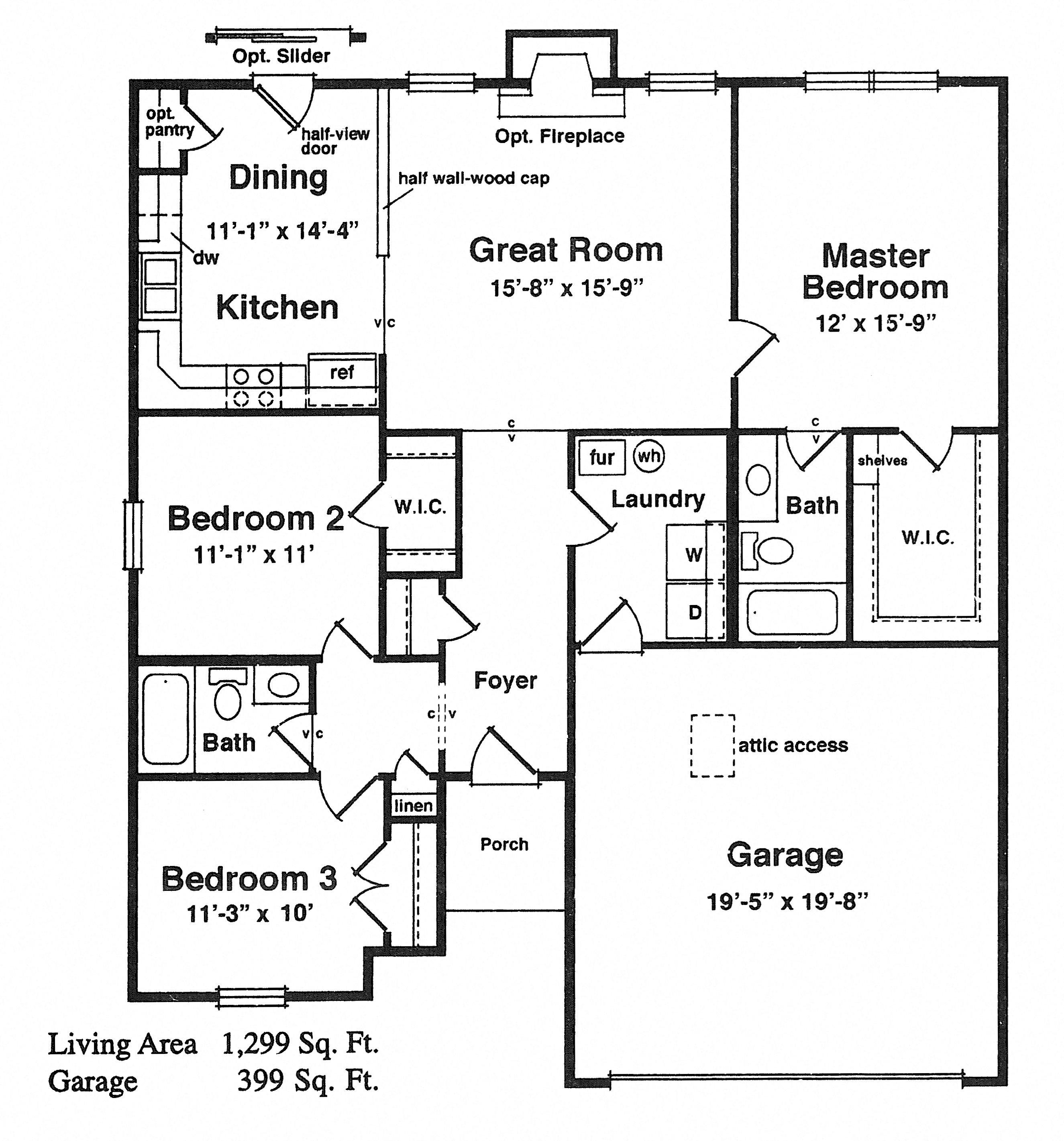 Raven's Cove: Fort Wayne, IN 46818 Floor Plan 3