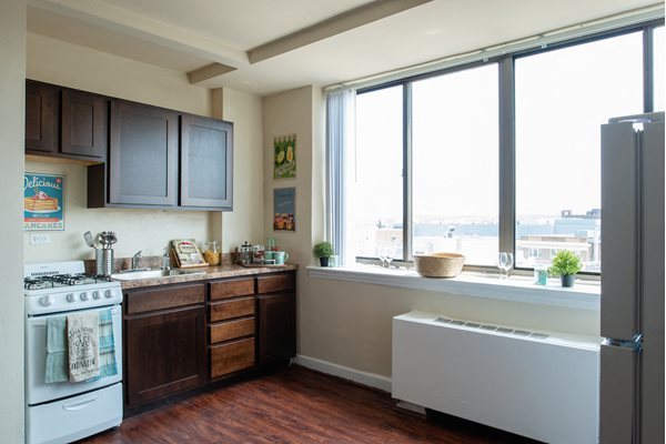 Spacious Kitchen with Pantry Cabinet at Richman Towers, Washington, DC, 20009