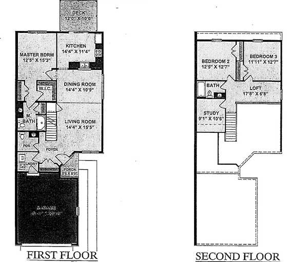 3 Bedroom 2.5 Bath Townhome Floor Plan 4
