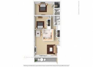 Floor plan at The Aspen, Virginia,22305