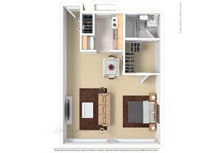 Floor plan at The Aspen, Alexandria