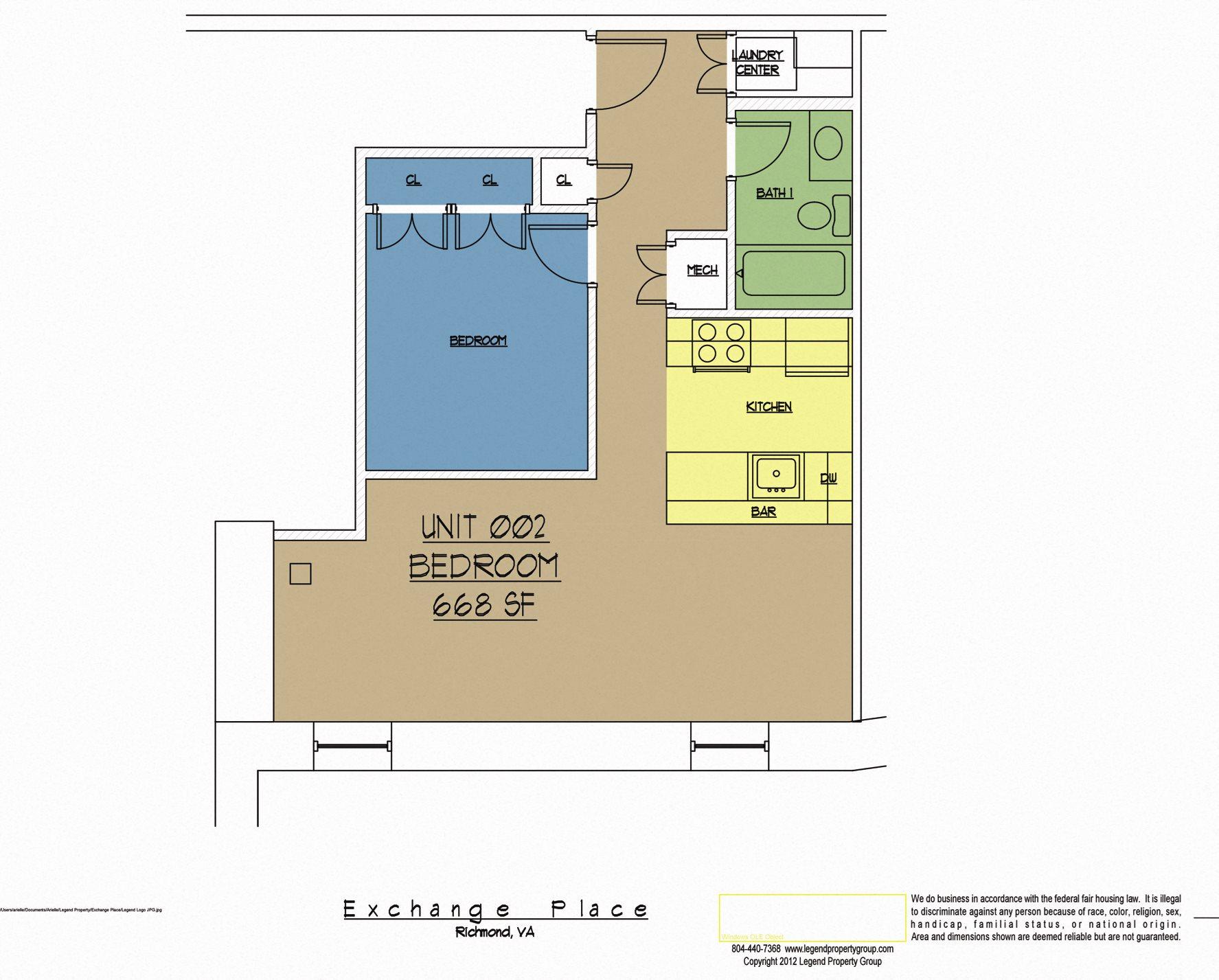 Floor Plans Of Exchange Place In Richmond, VA