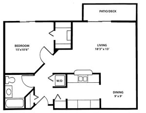 1 Bedroom 1 Bath Handicap Accessable