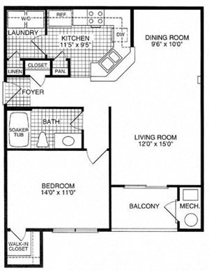 Floor plan at Woodland Park, Herndon, VA