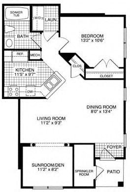 Floor plan at Woodland Park, Herndon, 20171