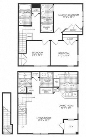Floor plan at Woodland Park, Virginia, 20171